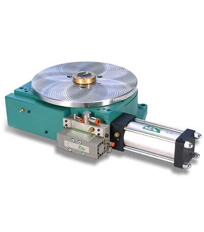 Pneumatic rotary tables
